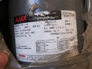 details about new ajax electric motor 1hp xtm 1 56 115v