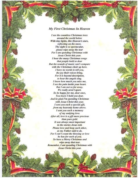 christmas  heaven poem     lyrics christmas  heaven poem