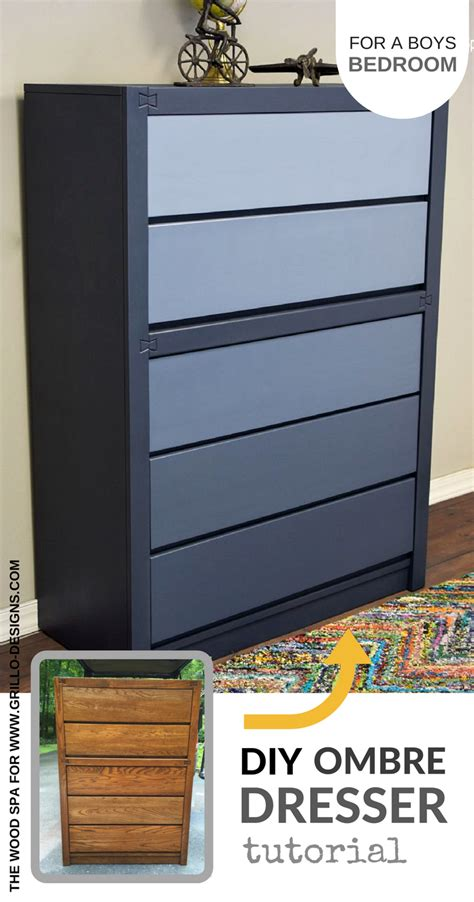 ombre diy dresser from ikea decor8 diy blue ombre dresser tutorial for a boys bedroom