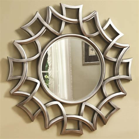 wall mirrors coaster accent mirrors 901733 starburst accent mirror in