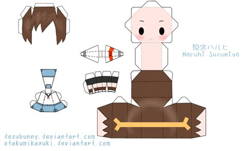 Anime Chibi Papercraft - 13 best photos of chibi papercraft template anime