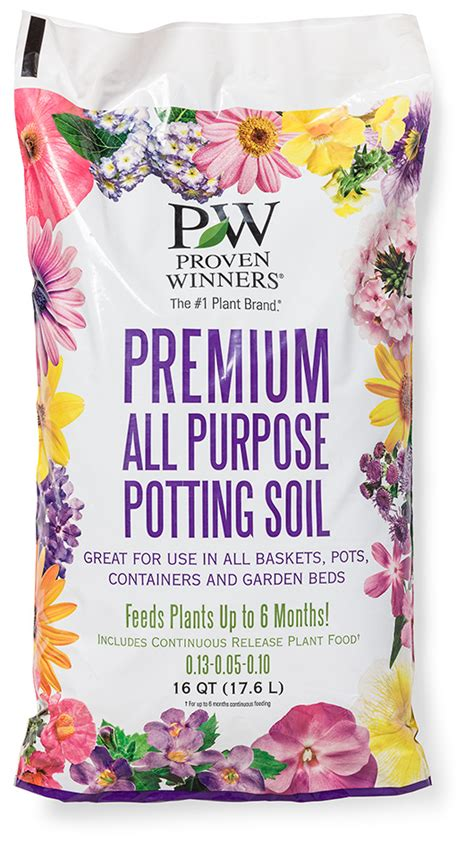 proven winners premium potting soil  plant food
