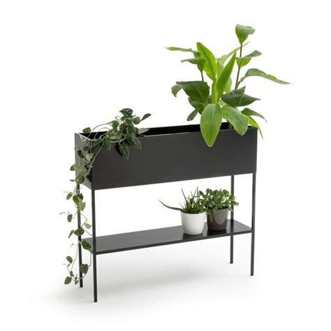 consuela outdoor metal planter console   metal