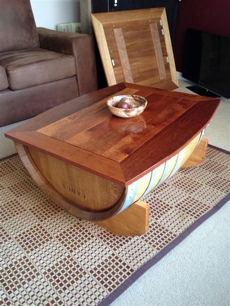 how to make a wine barrel coffee table diy projects for