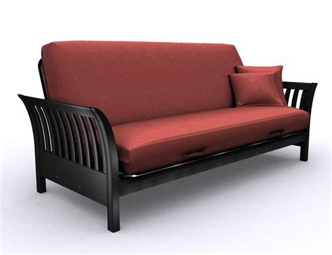 black futon milan black metal futon