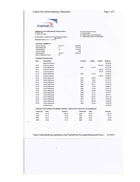 capital one credit card statement template unqualified audit report sle standard audit report