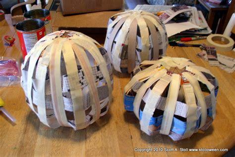 How To Make Paper Mache Pumpkins - how to pumpkins v2 0 stolloween