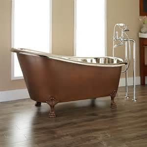 norah copper slipper clawfoot tub bathroom