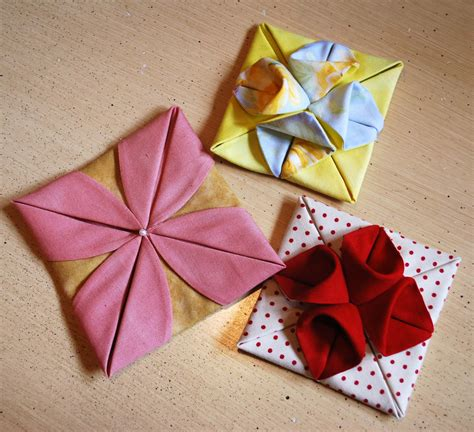 Origami Fabric Flowers - fabric origami the piper s