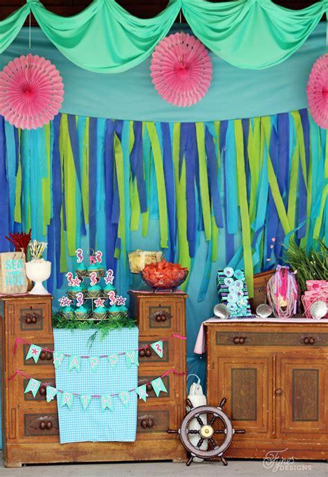 Mermaid Decoration Ideas by Swim To Our Mermaid Diy Mermaid Birthday