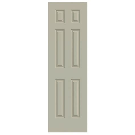 jeld wen 24 in x 80 in molded smooth 2 panel arch plank jeld wen 24 in x 80 in molded smooth 6 panel desert sand