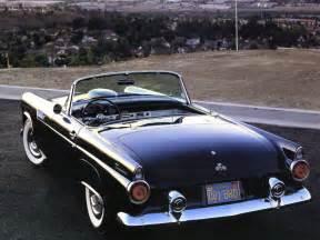 1955 ford thunderbird roadster black rvl cars wallpaper