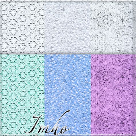 my sims 3 blog 31 patterns guipure and lace by imho