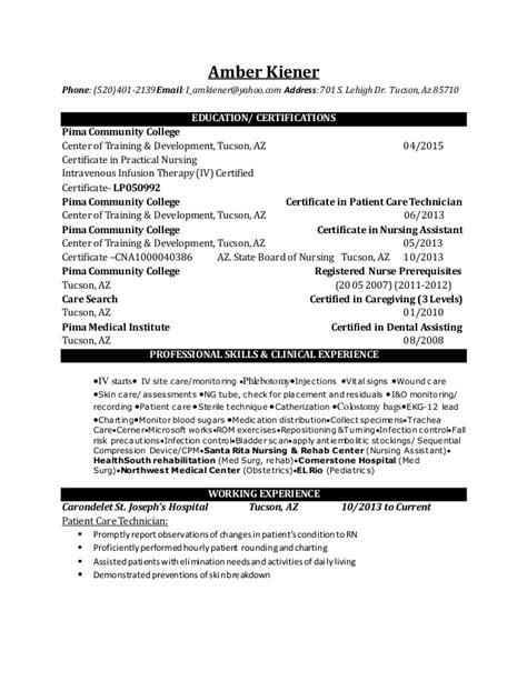 Lpn Resume by Ambers Lpn Resume 2015