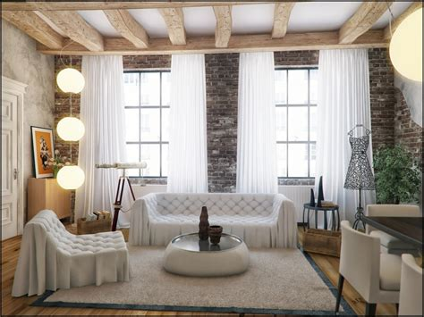 white loft style decor interior design ideas
