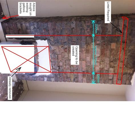partial removal of chimney breast chimneys amp fireplaces