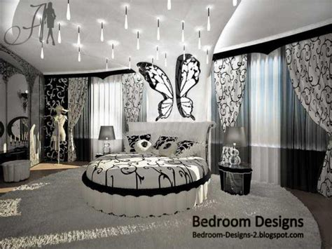 Black And White Master Bedroom Design With Round Bed Black And White Bedroom Decor