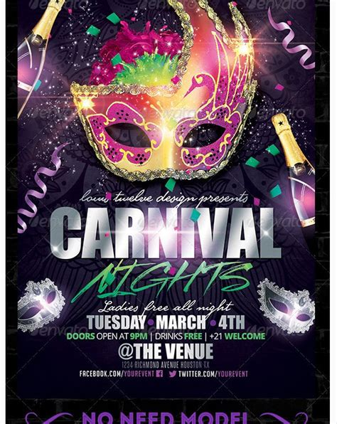 carnival party flyer 17 best images about carnival flyer templates on pinterest