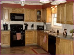 black appliances kitchen kitchens honey oak cabinets grey