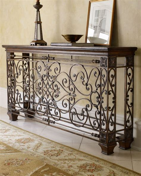 foyer designs 3 wrought iron stereo cabinet foyer decor ambella wrought iron console horchow furniture m 246 bel