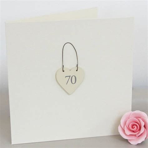 Handmade 70th Birthday Cards - 70th handmade birthday card by chapel cards