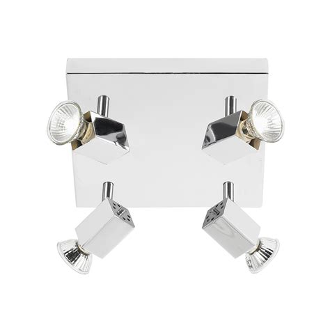 endon el 10047 4 light polished chrome flush ceiling spot