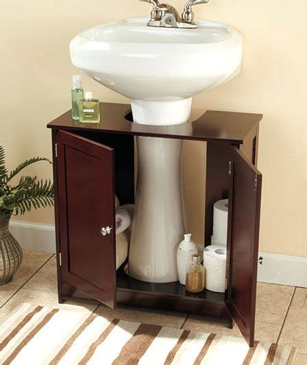 pedestal sink storage cabinet bathroom storage