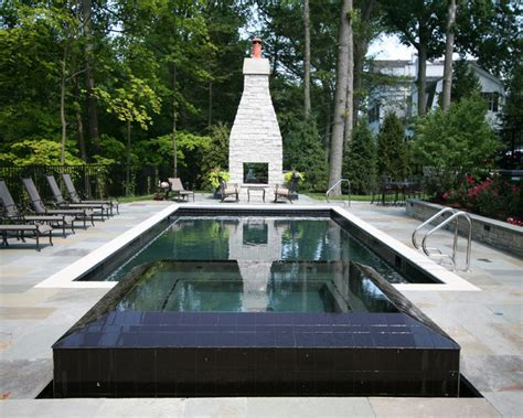 Lake Forest Reflecting Pool & Spa   Traditional   Pool   Chicago   by Rosebrook Pools, Inc.
