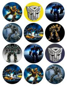 transformer cake toppers transformers birthday and cupcake toppers on