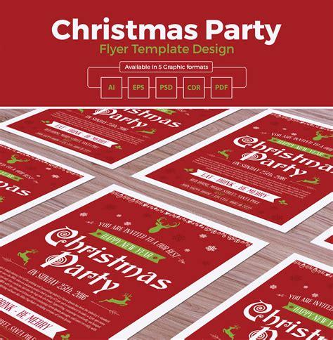 flyer design templates cdr christmas party flyer template design in ai eps psd cdr
