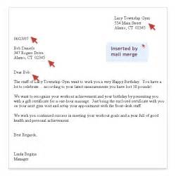 assistant membership communication tools sle birthday letter customized with mail merge