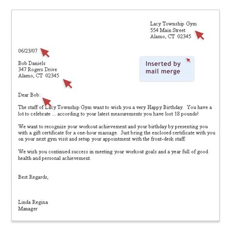 Customer Birthday Letter Assistant Membership Communication Tools Sle Birthday Letter Customized With Mail Merge