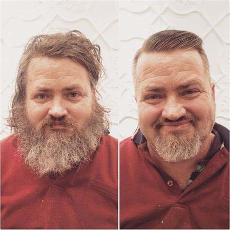 homeless haircuts before and after this guy gives homeless people free haircuts and changes