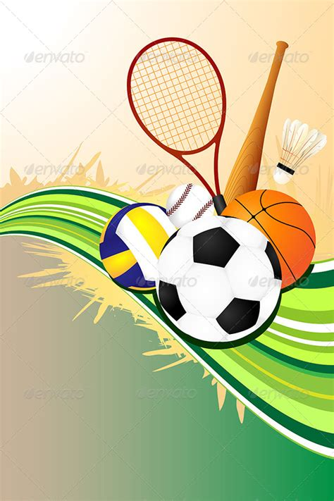 Ball Sports Background By Artisticco Graphicriver Sports Graphic Design Templates
