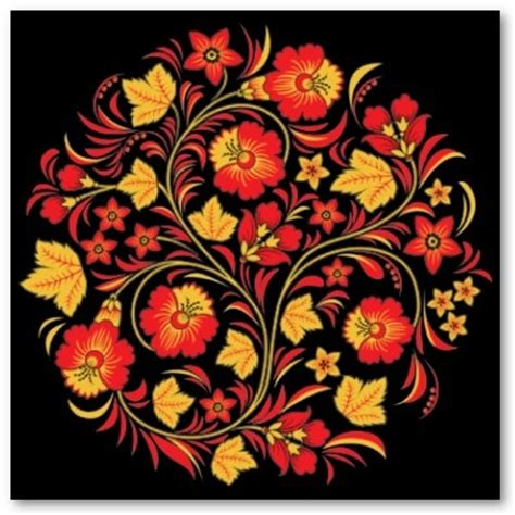 russian pattern art folk art flower patterns pictures to pin on pinterest