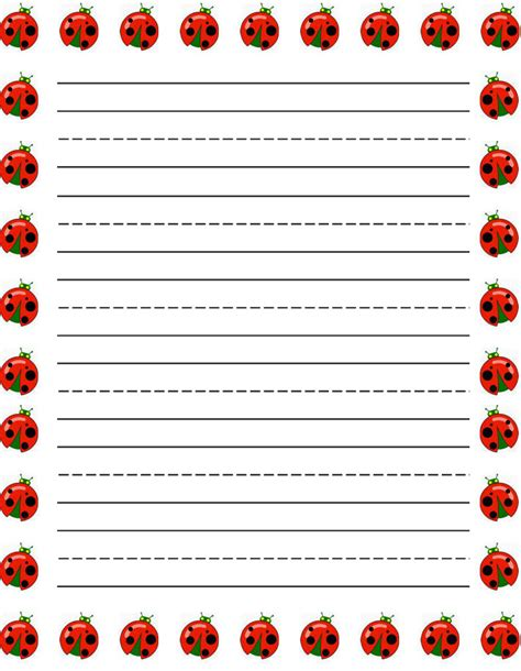 printable ladybug stationery free printable ladybug borders for paper car interior design