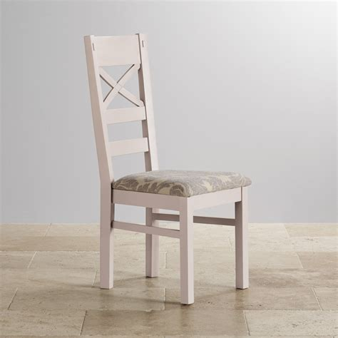 grey patterned dining chairs shay painted rustic oak dining chair in patterned grey