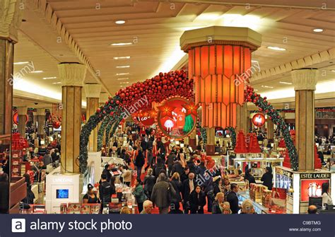 christmas shopping at macy s department store midtown