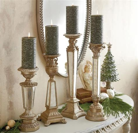Mirror Candle Holders Antique Mirror Glass Candlesticks