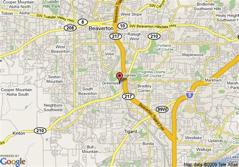 beaverton oregon map of courtyard by marriott portland beaverton beaverton