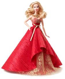 Barbie sparks the festivities up in a luxurious rich red gown with