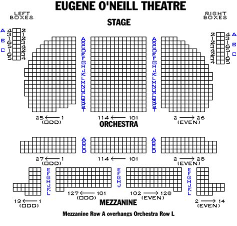eugene oneill theatre seating views eugene o neill theatre playbill