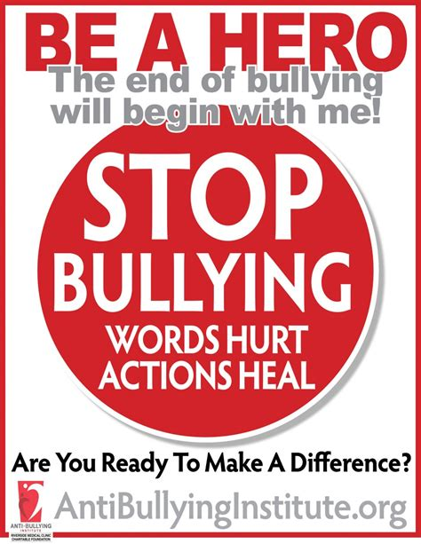 Anti Bullying Institute Print Materials Anti Bullying Flyer Template