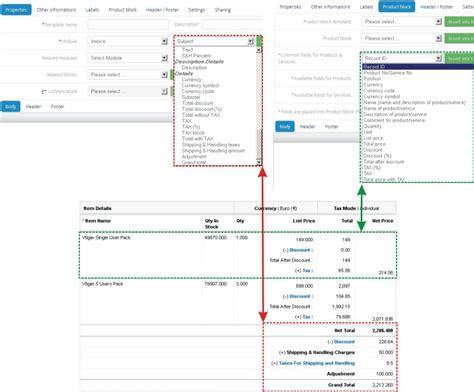 vtiger invoice template vtiger invoice template pdf hardhost info