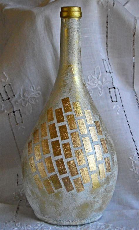 Wine Bottle Vase by Gold Shimmer Wine Bottle Vase Favecrafts