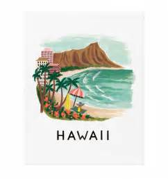 Wedding Planners San Francisco Hawaii Art Print By Rifle Paper Co Made In Usa