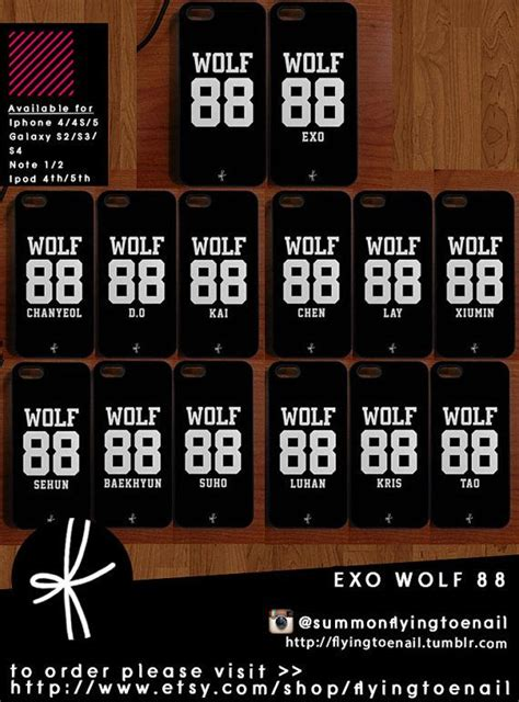 casing handphone kpop exo wolf exo wolves and cases on