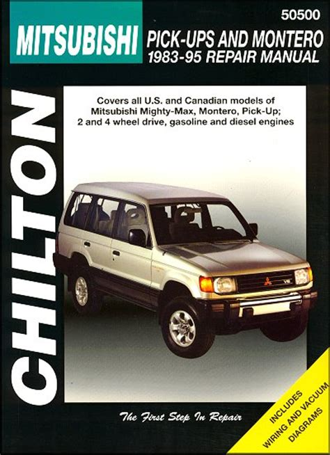 mitsubishi mighty max montero repair manual 1983 1995 chilton