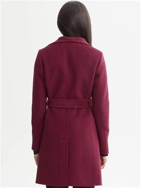 banana republic draped wool coat banana republic belted wool wrap coat in red red