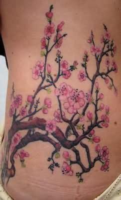 Cherry Blossom Tattoos Page 6 Japanese Cherry Blossom Side Tattoos